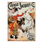 Anuncio de circo tarjetas