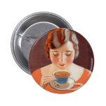 Anuncio de consumición de la pintura del té de la  pins