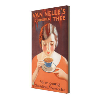 Anuncio de consumición de la pintura del té de la  impresion en lona