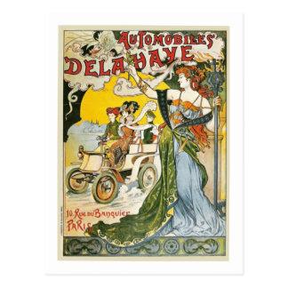 Anuncio de Dela Haye de los automóviles del vintag Postales
