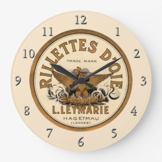Anuncio de D'Oie de los picadillos del vintage Reloj Redondo Grande