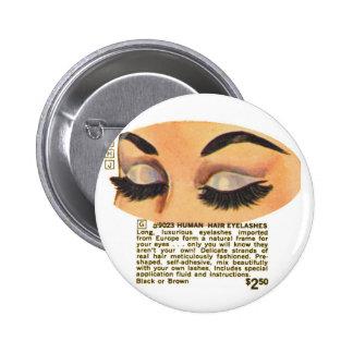 Anuncio de Eyelasses del ser humano del vintage el Pin Redondo De 2 Pulgadas
