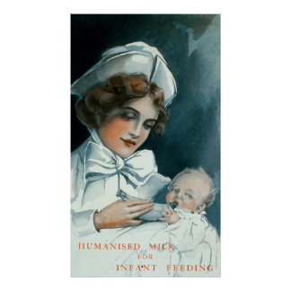 Anuncio de Forumla del bebé de la enfermera del Póster