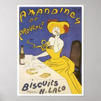 Anuncio de H. Lalo Vintage de las galletas de Aman Póster
