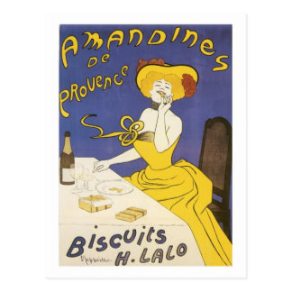 Anuncio de H. Lalo Vintage de las galletas de Aman Tarjetas Postales