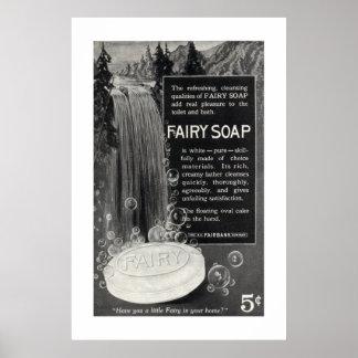 Anuncio de hadas del jabón del vintage a partir de posters