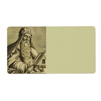 ANUNCIO de la albahaca c400 del santo Etiqueta De Envío