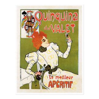 Anuncio de la bebida del aperitivo de Quinquina Du Postales