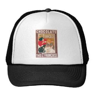 Anuncio de la bebida del chocolate caliente del vi gorros bordados