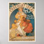 Anuncio de la bebida del chocolate caliente del vi impresiones