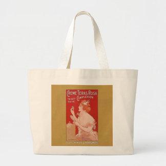 Anuncio de la belleza del vintage bolsas lienzo