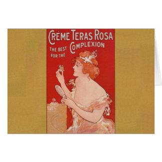Anuncio de la belleza del vintage tarjeta de felicitación