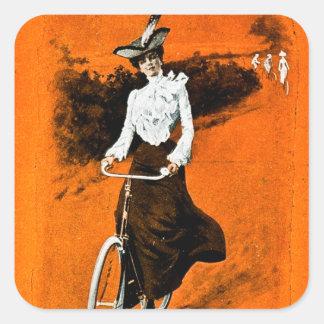 Anuncio de la bici de Humber del vintage Pegatina Cuadrada