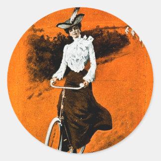 Anuncio de la bici de Humber del vintage Pegatina Redonda