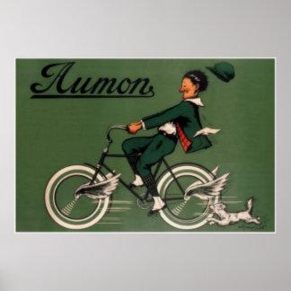 Anuncio de la bicicleta de Aumon del vintage Póster