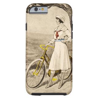 Anuncio de la bicicleta de la mujer de los años 20 funda de iPhone 6 tough