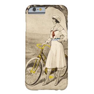 Anuncio de la bicicleta de la mujer de los años 20 funda barely there iPhone 6