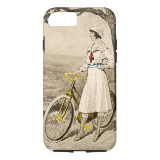 Anuncio de la bicicleta de la mujer de los años 20 funda iPhone 7