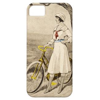 Anuncio de la bicicleta de la mujer de los años 20 iPhone 5 carcasa