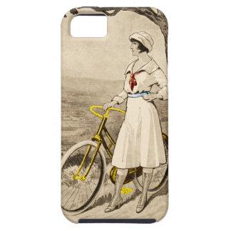 Anuncio de la bicicleta de la mujer de los años 20 iPhone 5 fundas