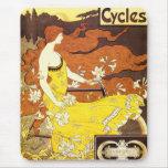 Anuncio de la bicicleta de Nouveau del arte del Alfombrillas De Ratón