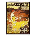 Anuncio de la bicicleta de Nouveau del arte del Tarjeta