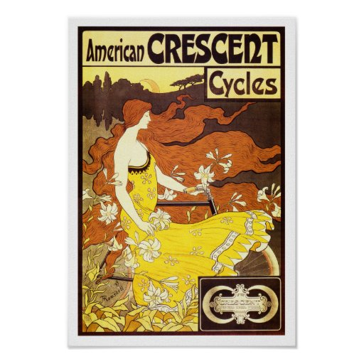 Anuncio de la bicicleta de Nouveau del arte del vi Impresiones