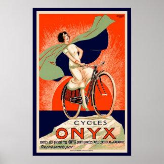 Anuncio de la bicicleta del ónix del vintage póster