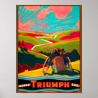 Anuncio de la bicicleta del vintage - bici en la póster