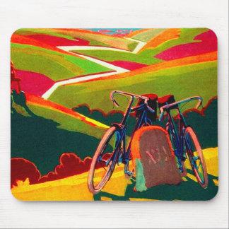 Anuncio de la bicicleta del vintage - bici en la alfombrilla de raton