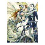 Anuncio de la bicicleta del vintage - completando postal