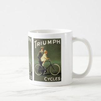 Anuncio de la bicicleta del vintage tazas de café