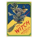 Anuncio de la bruja del vintage tarjeta