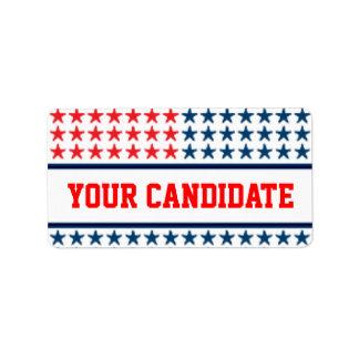 Anuncio de la campaña etiquetas de dirección