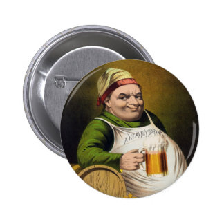 Anuncio de la cerveza de cerveza dorada del vintag pins