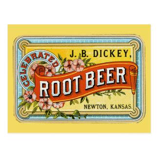 Anuncio de la cerveza de raíz del vintage del peto