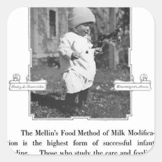Anuncio de la comida de Mellin Pegatina Cuadrada