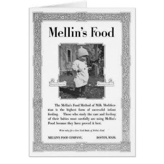 Anuncio de la comida de Mellin Tarjeta De Felicitación