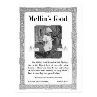 Anuncio de la comida de Mellin Tarjeta Postal