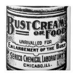 Anuncio de la crema del busto del vintage azulejo ceramica