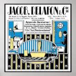 Anuncio de la fontanería de 1924 franceses impresiones