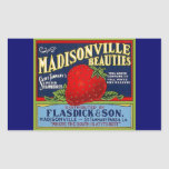Anuncio de la fresa del LA de Madisonville del Rectangular Altavoz