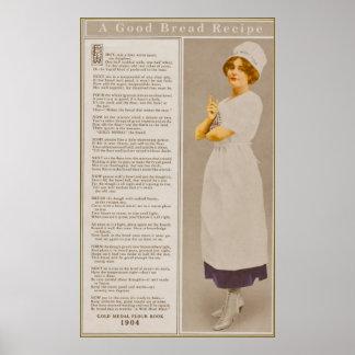 Anuncio de la harina del vintage con el poster de