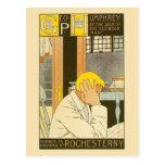 Anuncio de la librería de Rochester del nouveau de Tarjeta Postal