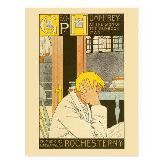 Anuncio de la librería de Rochester del nouveau Postales