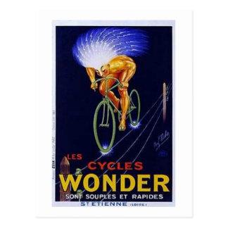 Anuncio de la maravilla de los ciclos del vintage postales