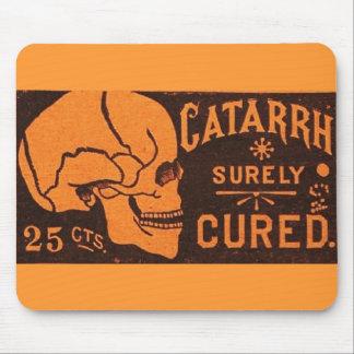 Anuncio de la medicina del cráneo del vintage alfombrillas de ratones