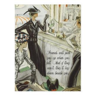 Anuncio de la moda del vintage:  Amistad Tarjeta Postal