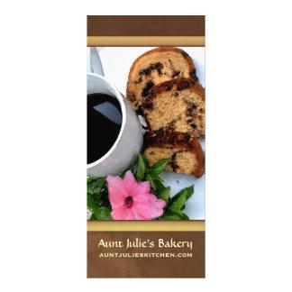 Anuncio de la panadería/de la cafetería tarjetas publicitarias personalizadas
