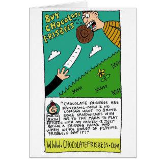 Anuncio de la parodia del disco volador del tarjeta de felicitación
